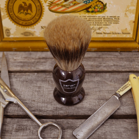 Parker Tortoise Handle Shave Brush