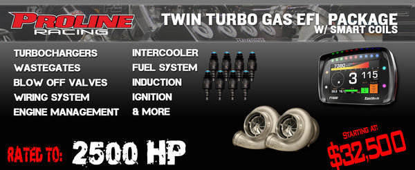 2500HP Twin Turbo Gas w/ Smart Coil EFI Package