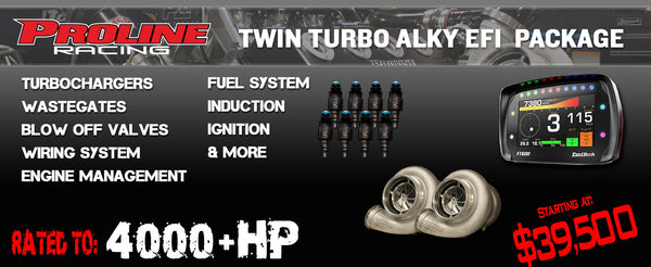 4000HP Twin Turbo Alcohol EFI Package