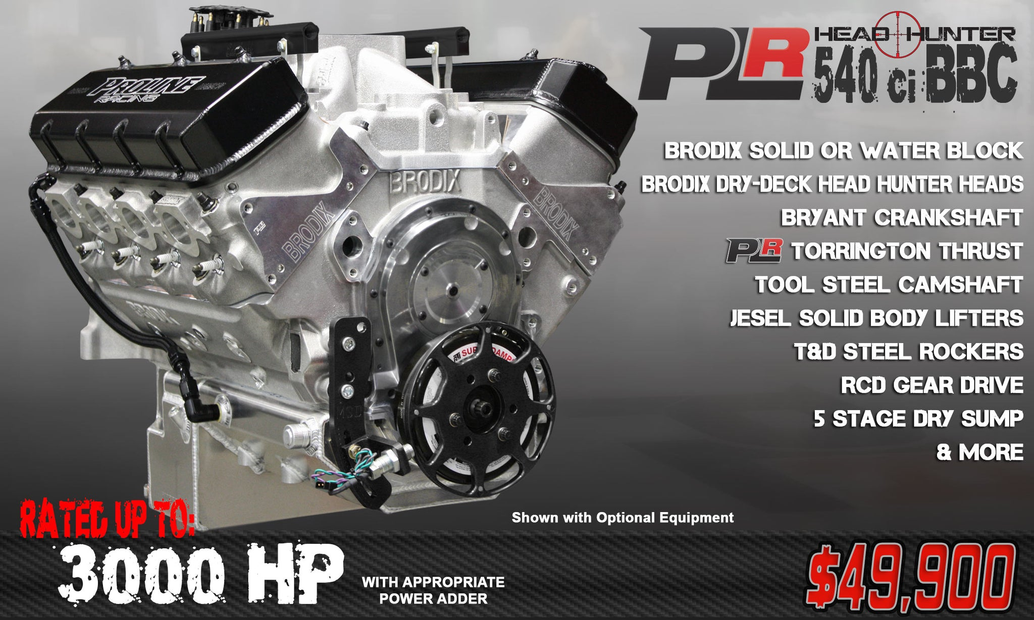 PLR 540 BBC HEAD HUNTER 3000 HP - Pro Line Racing