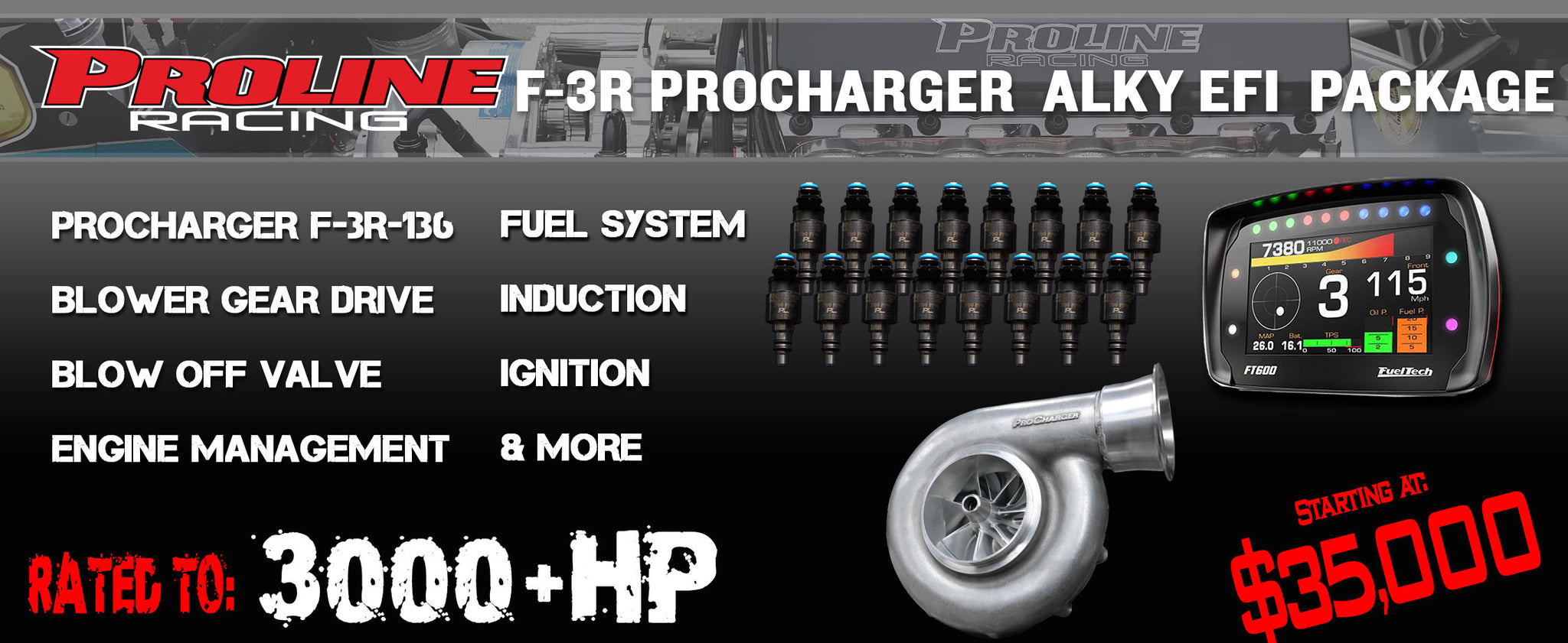 F-3R Procharger Alcohol EFI Package - Pro Line Racing