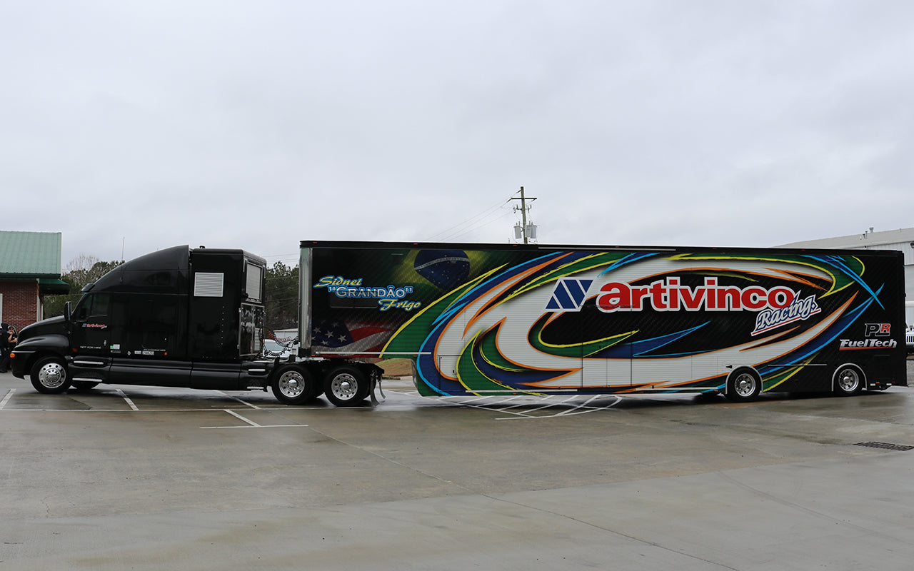 Featherlite 53ft Race Trailer with Double Doors and Kenworth Truck For Sale $165K & Featherlite 53ft Race Trailer with Double Doors and Kenworth Truck ...