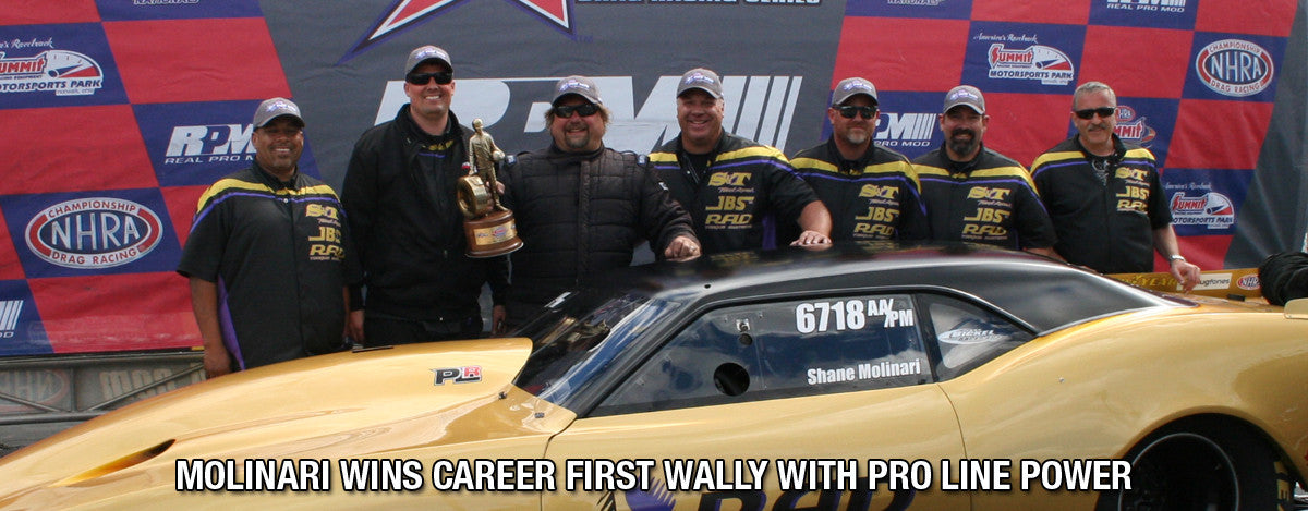 MOLINARI WINS CAREER FIRST WALLY WITH PRO LINE POWER