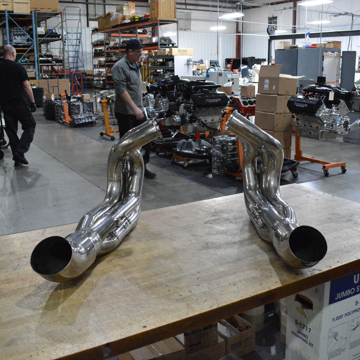 "PROFABRICATION REHER MORRISON TOP DRAGSTER 5.3"" BS POLISHED HEADERS"