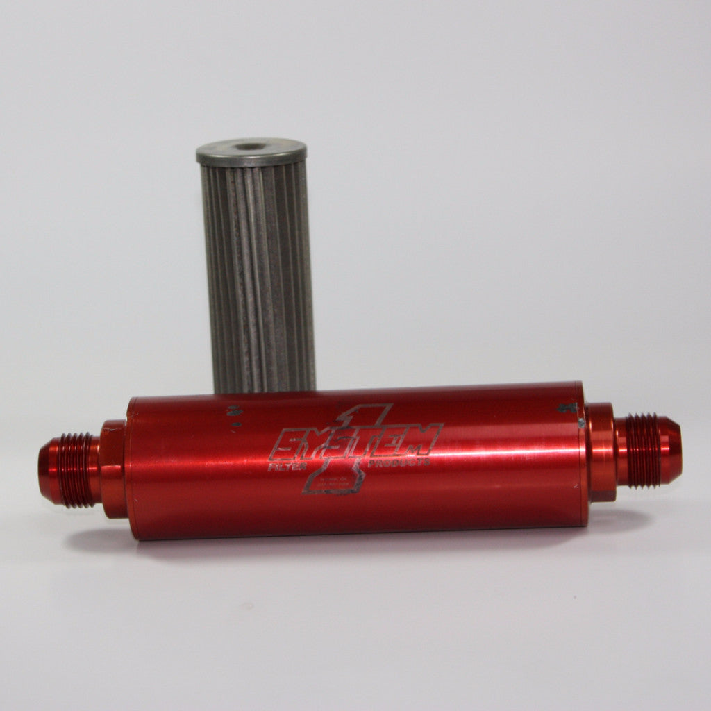 USED LONG BILLET INLINE SYSTEM 1 30 MICRON FUEL FILTER  - Pro Line Racing