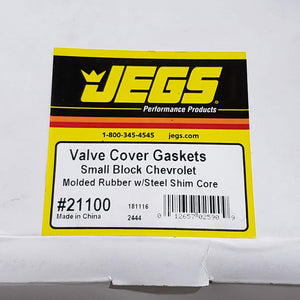 NEW JEGS 21100 SBC VALVE COVER GASKET SET