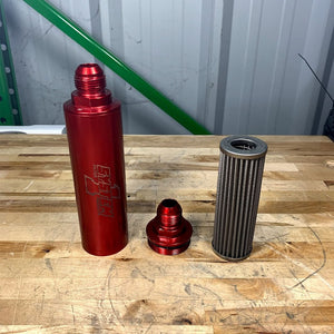 "SYSTEM 1 INLINE OIL FILTER -12 AN  9"" LONG"