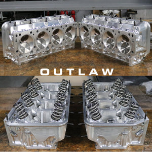 USED MBE ALCOHOL OUTLAW HEMI TURBO CYLINDER HEAD SET #15015