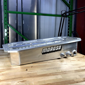 USED MOROSO 481X ALUMINUM WET SUMP OIL PAN