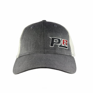 PROLINE RACING GREY AND CREAM MESH SNAPBACK HAT