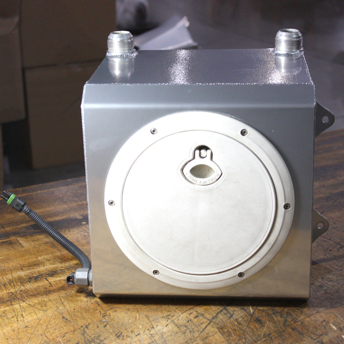 LIGHTLY USED INTERCOOLER WATER TANK WITH SUBMERSIBLE PUMP
