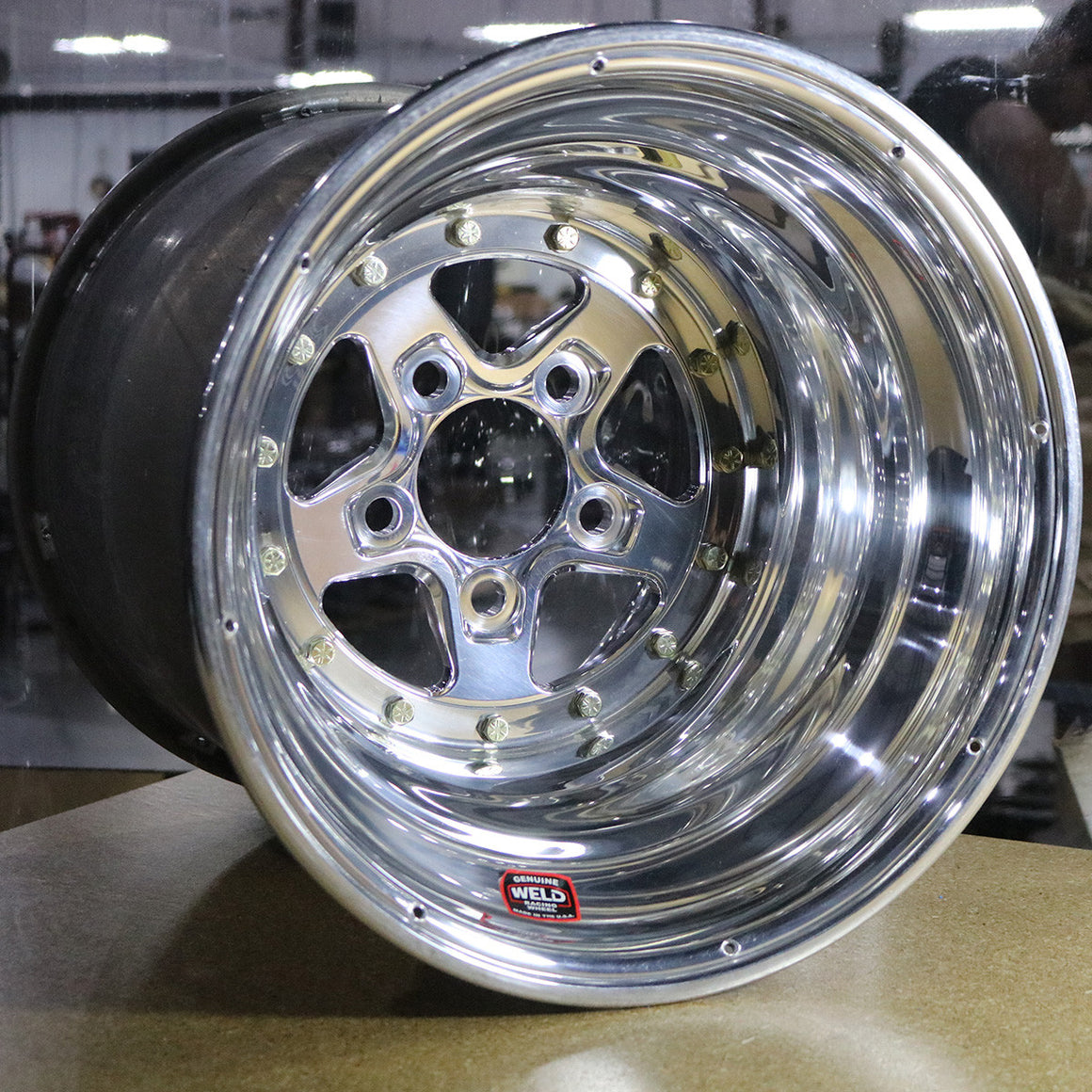 USED WELD ALUMASTAR 2.0 POLISHED RACING WHEELS DRILLED FOR RIM SCREWS