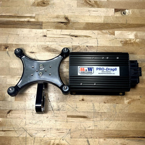 M&W PRO-DRAG8 CDI IGNITION BOX WITH BILLET X-MOUNT (SINGLE)