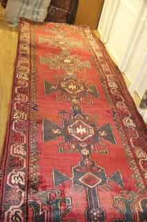 "Runner shahsevan tribal persian 10'2"" x3'6"" #st56"