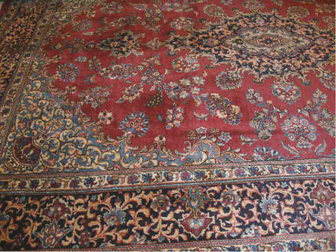 ANTIQUE MASHAD SIGNED 8'1