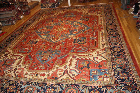"Heriz persian new, 19'2"" x13'4"" natural dyes"