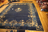 "Art deco Chinese 9'3""x11'4"" antique"