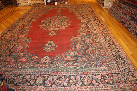 "ANTIQUE MAHAL SARUK 10'4""x17'9"""