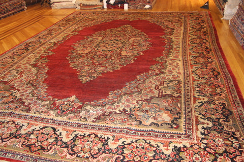 "ANTIQUE Ziegler mahal SARUK 11'4""x17'2"""