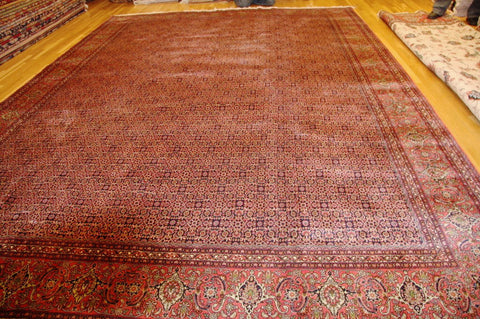 "Bijar silk 15'8""x11'6"" persian"