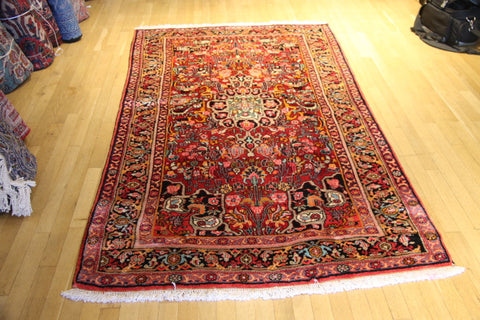 Bijar , floor rug, tribal, 4 ft, 2 inches x 8 feet