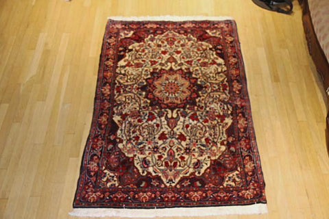 "Bijar Persian , tribal,  3'8"" x 6'2"""