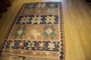 kilim shahsevan, tribal , antique, 600