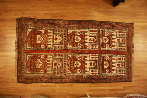 Antique baluch 4x6 wool