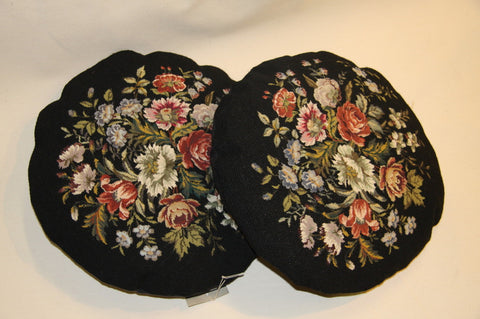 pillows needlepoint 16x16 black