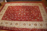 "Kirman 9'6""x14'5"" all over antique"