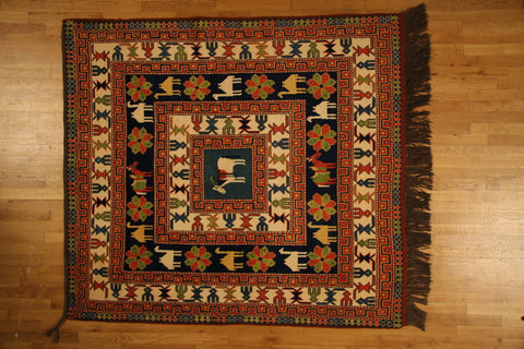 "KAZAK ALL WOOL 5'4""X6"