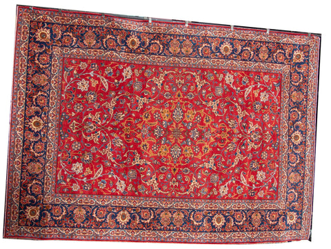 kashan antique angor wool unusual.
