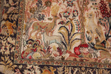"silk persian isfahan 42""x66"" ( from Michael jacskon estate )"
