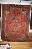 "Serapi  GHARAJE (KARAJE) antique Persian 8'7""x12"