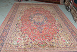 "Tabriz silk 13'4""x 18'9"" signed pictorial finest persian rug"