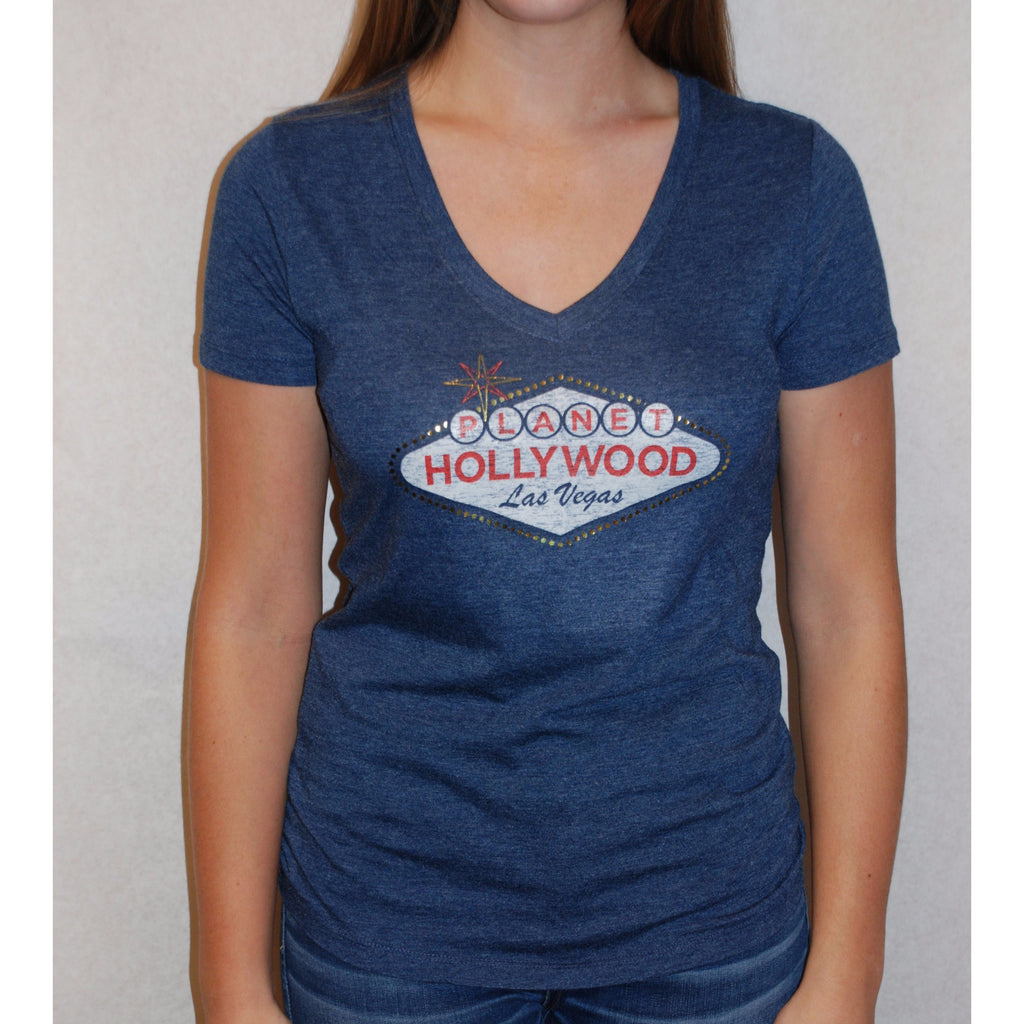 Las Vegas Sign V-Neck Tee