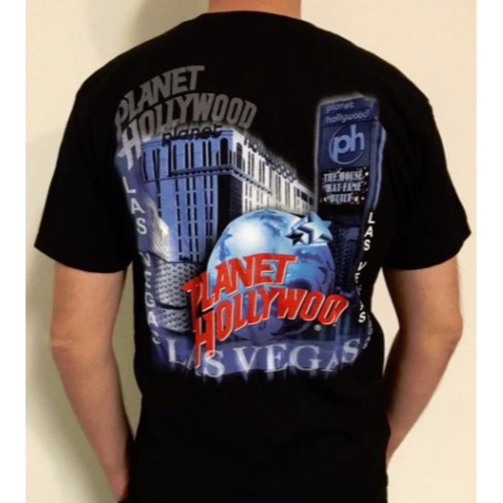 Shop planet hollywood las vegas city glow tee planet for Planet hollywood t shirt
