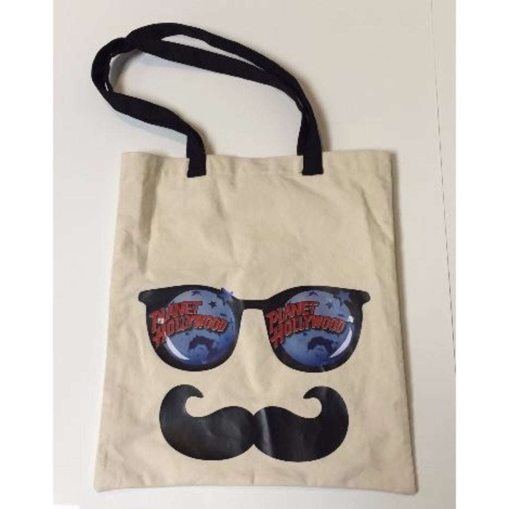 Mustache Face Natural Tote