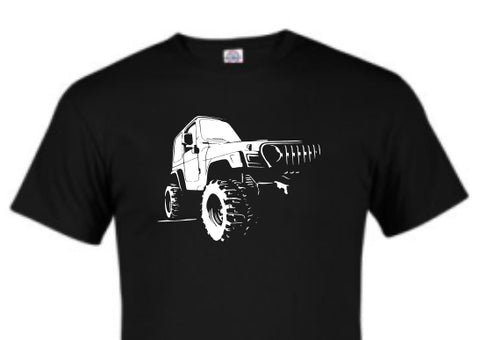 busting out jeep wrangler style tshirt or hoodie