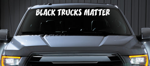 black trucks matter windshield banner decal sticker