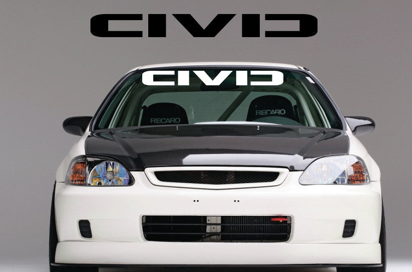 Civic series 10 windshield banner decal