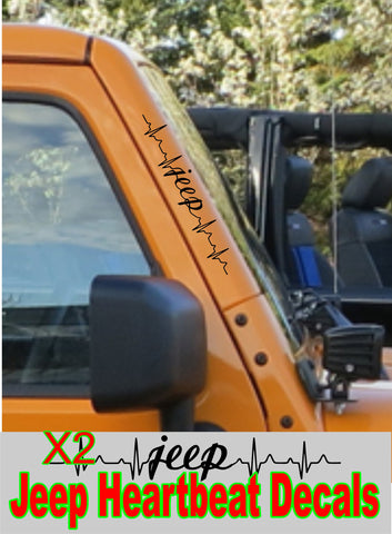 jeep heartbeat decals