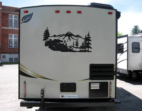 bear mountain rv travel trailer decal