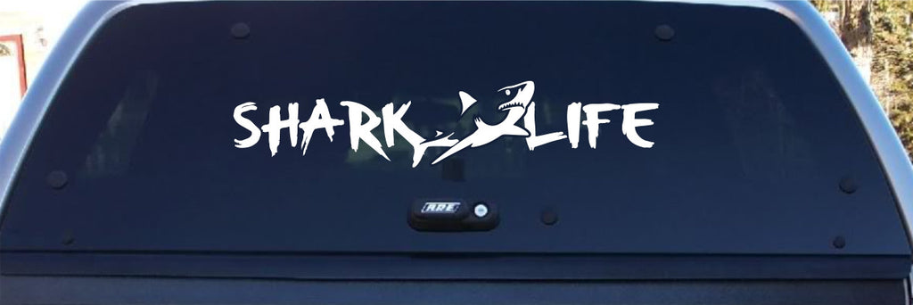 shark life window decal