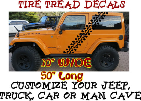 Super Swamper Tire Tread Pattern Decals #10 will look great on Jeep