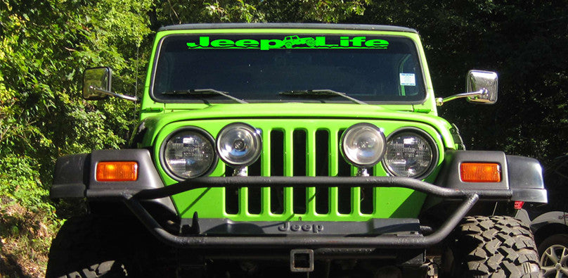 Jeep Life Windshield Banners