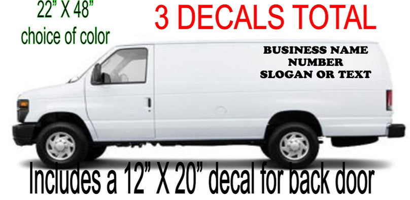 Custom Made Business Decals For Carpet Cleaning Vans and others