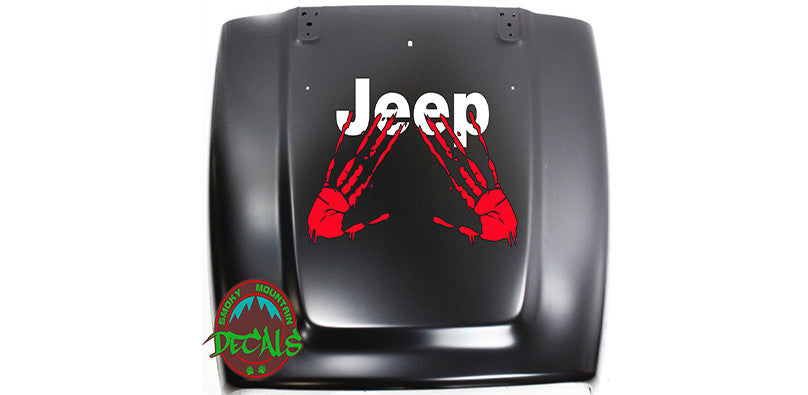 Large hood decals for Jeep and other vehicles