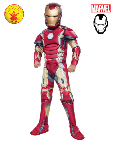 Avengers Deluxe Iron Man - Child - Civil War  - Book Week - Red Top Box