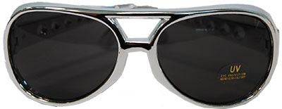 Elvis Glasses Silver Frame - Red Top Box